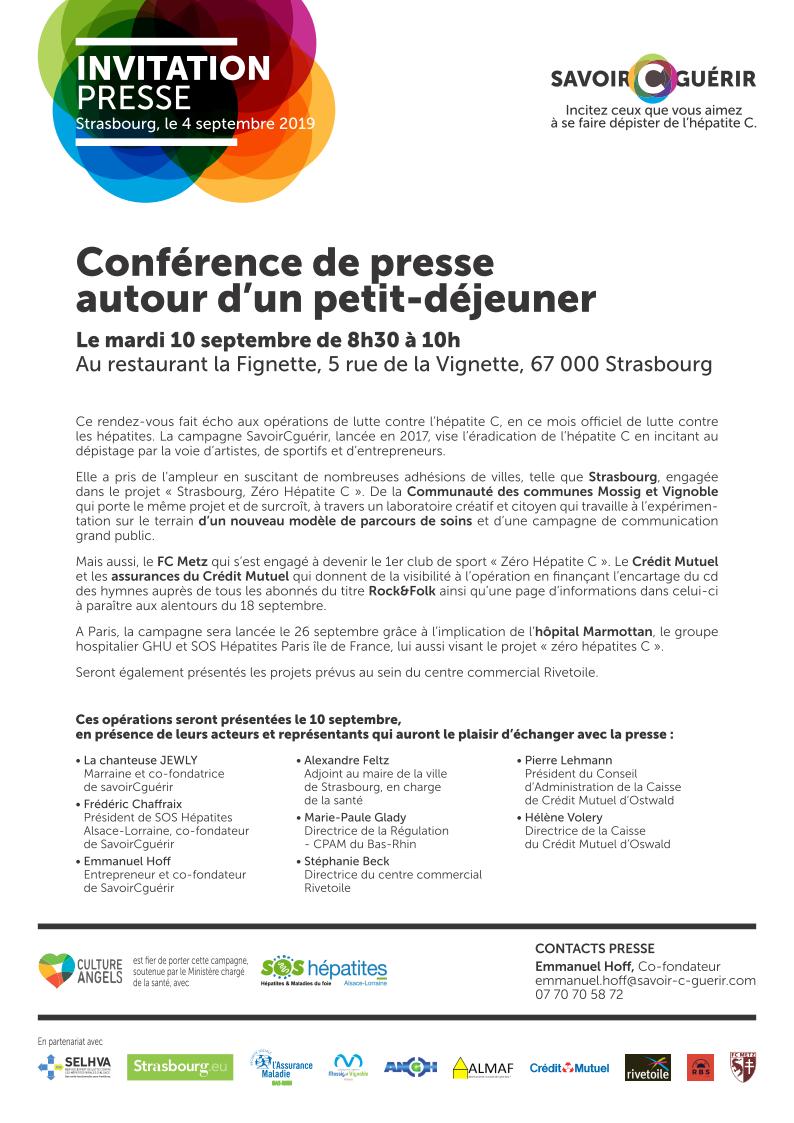 CP savoirCguerir 4 septembre 2019